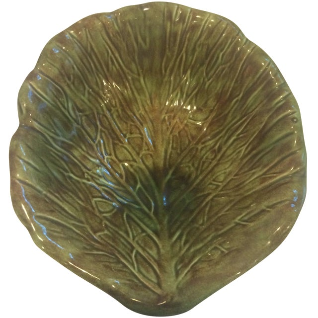 Holland Majolica Cabbage Leaf Bowl - Image 1 of 3