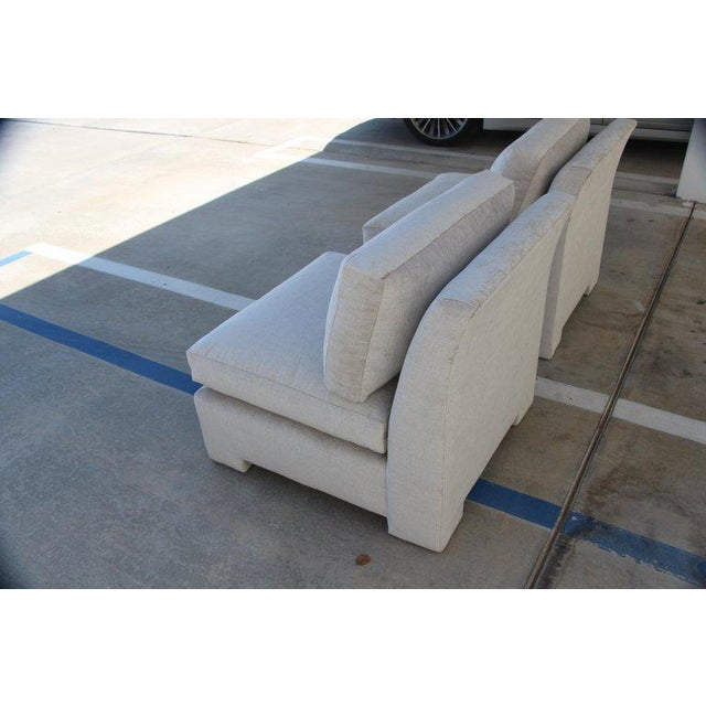Marge Carson Hollywood Regency Sofa and Chairs Redone in Knoll Summit Fabric For Sale - Image 12 of 13