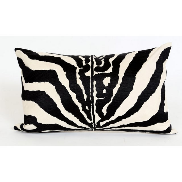 Embroidered Zebra Accent Pillow - NEW! - Image 2 of 4