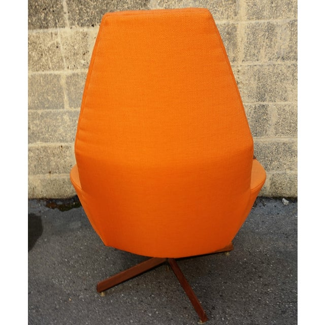 Adrian Pearsall Swivel Chair & Ottoman For Sale - Image 9 of 10