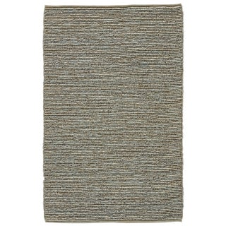 Jaipur Living Havana Natural Solid Blue & Beige Area Rug - 9' X 12' For Sale