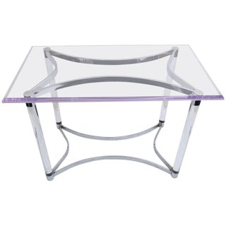 1960s Lucite and Steel Desk or Table For Sale