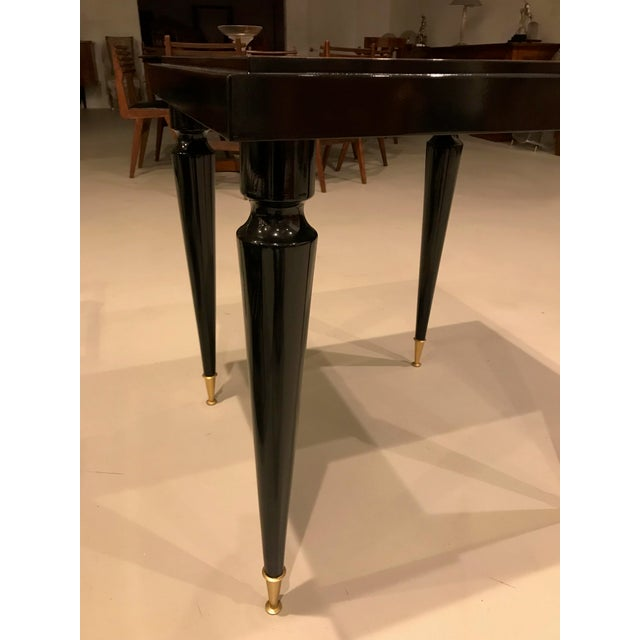 Wood 1940s French Art Deco Ebony Game Table or Centre Table For Sale - Image 7 of 11