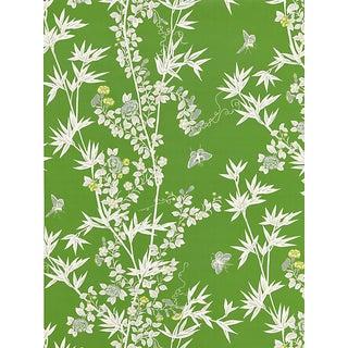 Scalamandre Jardin De Chine, Jade Wallpaper For Sale