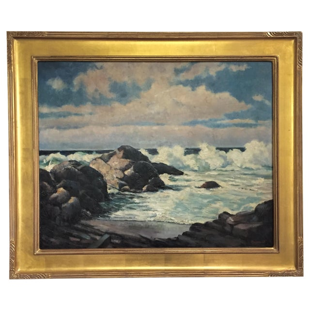 Vintage California Seascape by Greenwood - Image 1 of 7