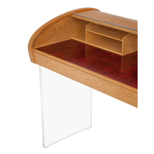 Vladimir Kagan Roll Top Writing Desk - Image 8 of 10