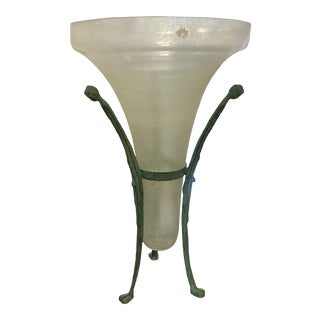 Signed Seguso Murano Vase Attributed to Karl Springer For Sale