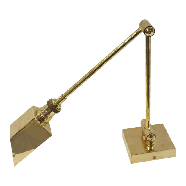 Articulating Arm Brass Wall Sconce For Sale