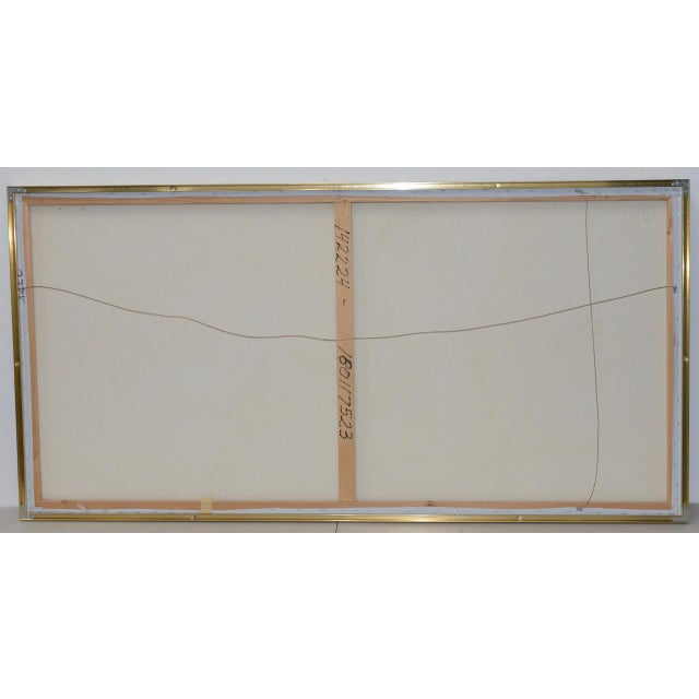 Aluminum Lee Reynolds Vanguard Studios Mid Century Abstract Oil Painting C.1960s For Sale - Image 7 of 8