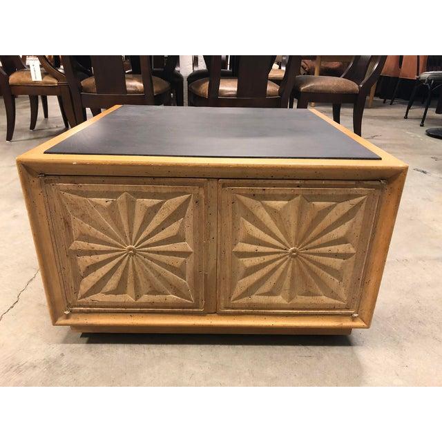 Henredon Mid 20th Century Slate Top Storage Coffee Table Chairish