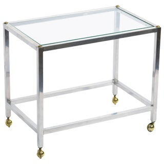 Steel Small Side Table For Sale