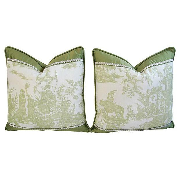 Designer Chris Stone Chinoiserie Pillows - Pair - Image 7 of 8