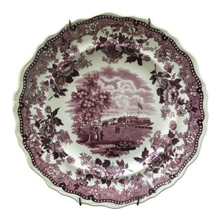 Jackson's Warranted Plum Staffordshire Plate For Sale