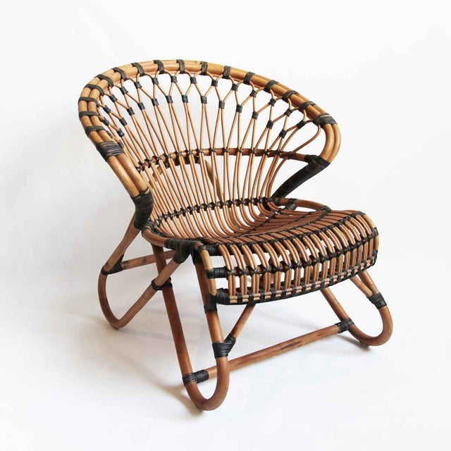 Bamboo & Rattan Side Chair - Image 2 of 3
