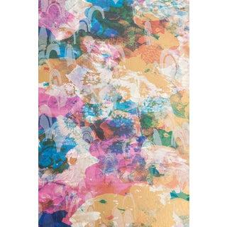 "Flat Vernacular Metallic ""Perennial-Rock Garden"" Wallpaper For Sale"