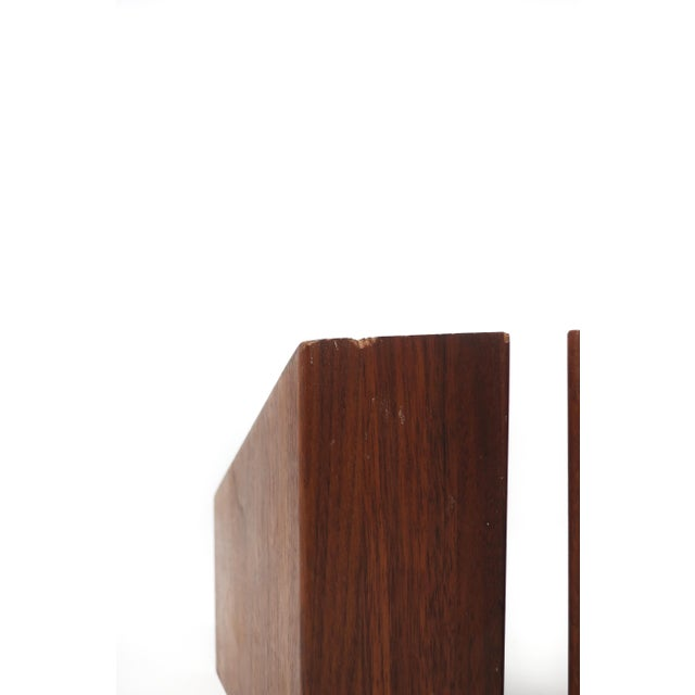 Mid-Century Modern Walnut Bookends For Sale In Palm Springs - Image 6 of 10