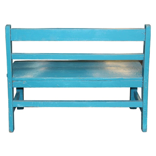 Vintage Blue Child's Bench - Image 6 of 6