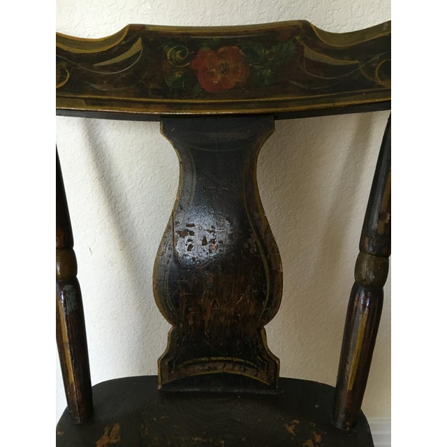 Antique Hand-Painted Early American Side Chair - Image 2 of 3