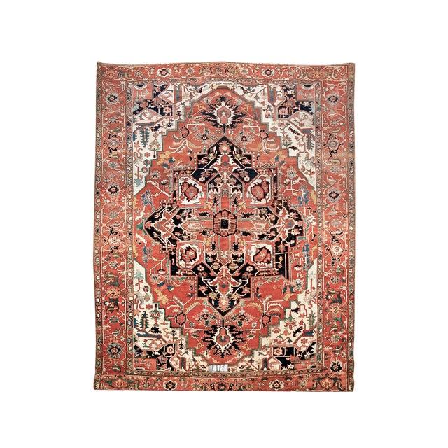 Square-Shaped Serapi Carpet For Sale