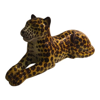 Italian Leopard Porcelain Sculpture