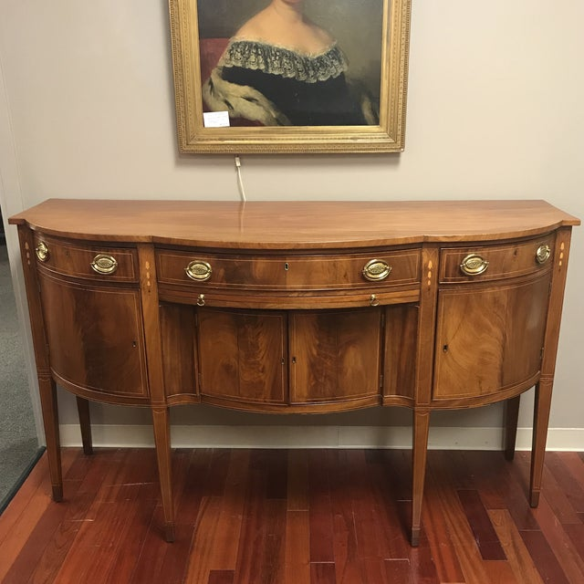 Mid-Atlantic Serpentine-Front Mahogany Sideboard For Sale - Image 11 of 11