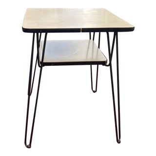 Vintage 1950's Two Tier Atomic Table For Sale