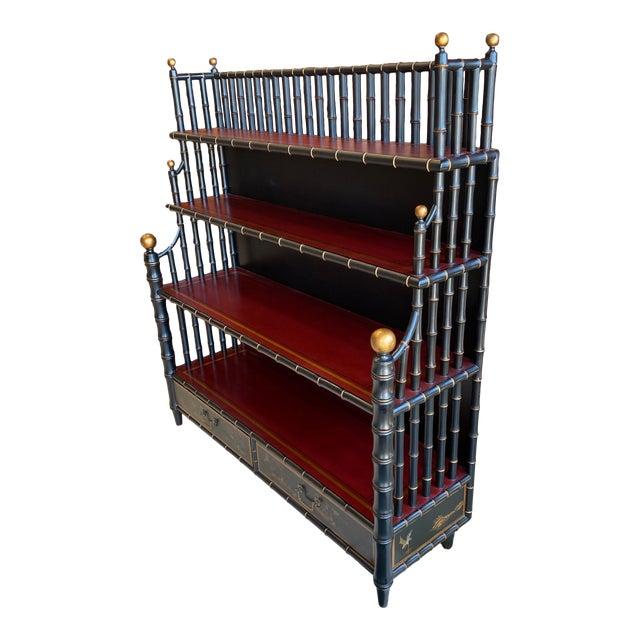 Chinoiserie Mario Buatta Widdicomb Waterfall Bookcase For Sale