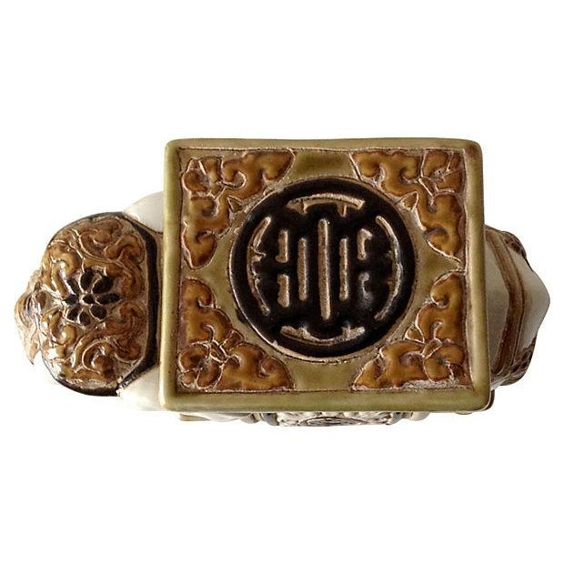 Porcelain Asian-Style Ceramic Elephant - Image 5 of 5