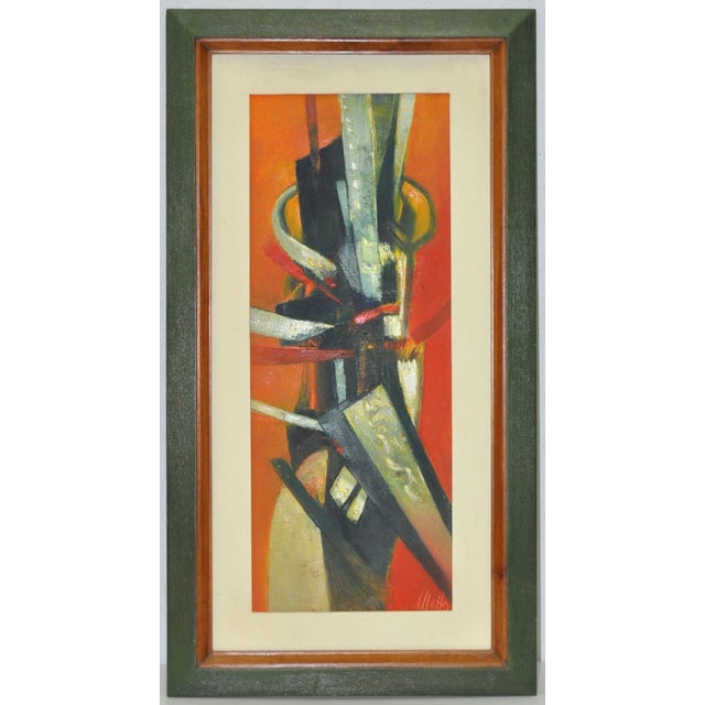 """Original Abstract oil painting signed 'Ulatto"""". Original oil on canvas. Circa 1960's. Very good vintage condition. 1960's..."""