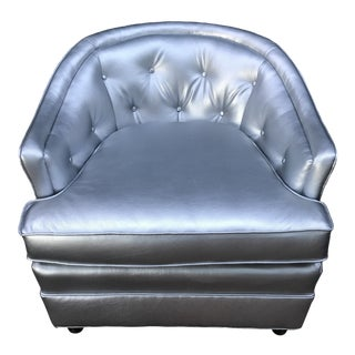 Silver Henredon Club Chair For Sale