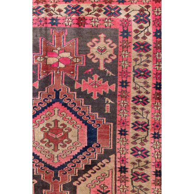 "Vintage Persian Heriz Rug, 3'8"" X 10'9"" - Image 2 of 8"