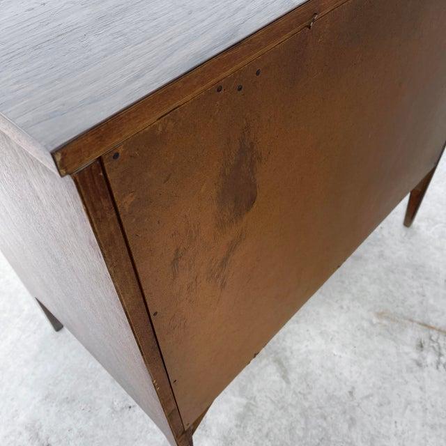 Brown Mid-Century Modern Three Drawer Dresser For Sale - Image 8 of 10
