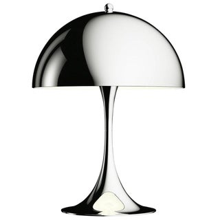Verner Panton 'Panthella Mini' Table Lamp in Chrome for Louis Poulsen