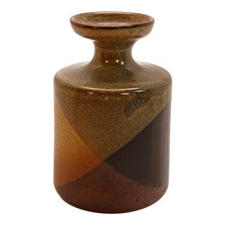1970s Vintage Pottery Craft Columnar Flare Top Bud Vase For Sale