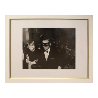 Mid-Century Modern Framed Photograph Frank & Mia Signed by Harry Benson, 1966 For Sale