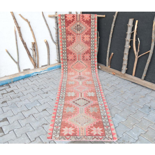 """1950's Vintage Turkish Hand-Knotted Hallway Runner Rug - 2'6"""" X 12'9"""" For Sale - Image 10 of 11"""