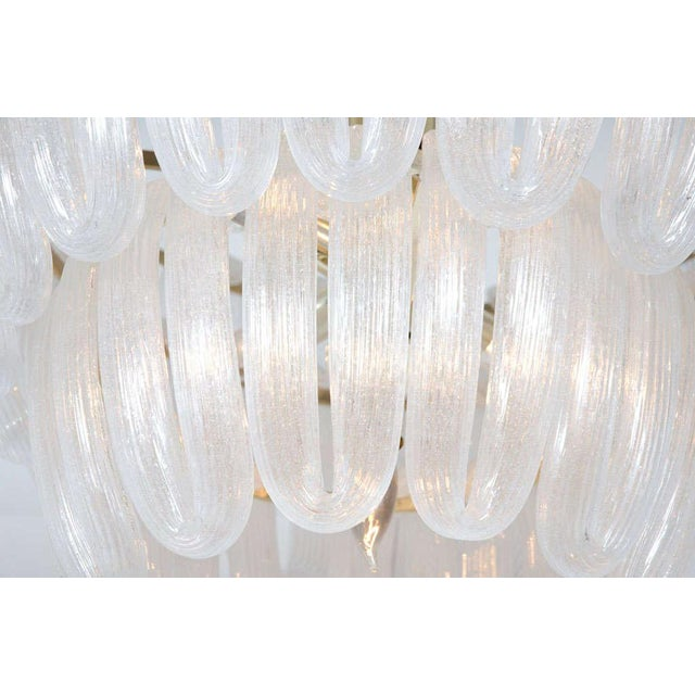 Hand Blown Glass Loop Chandelier after Barovier & Toso For Sale - Image 10 of 10