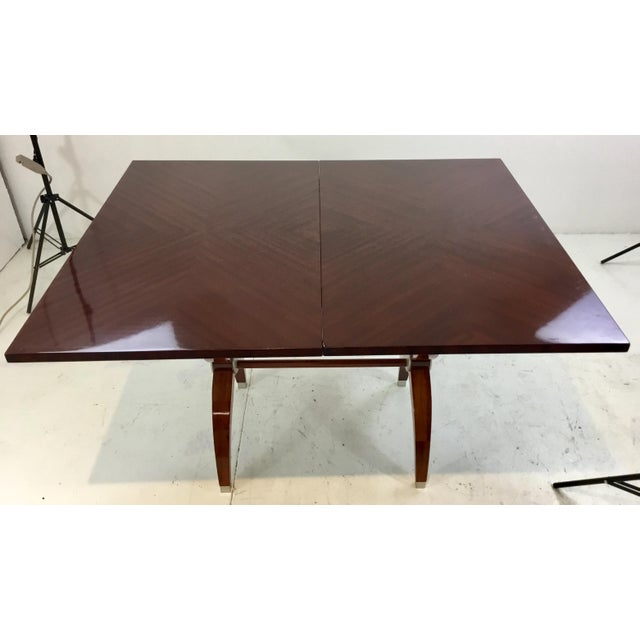 2010s Modern Mahogany Console Table For Sale - Image 5 of 7