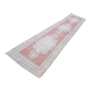1970s Vintage Turkish Runner Rug - 2′11″ × 13′7″ For Sale