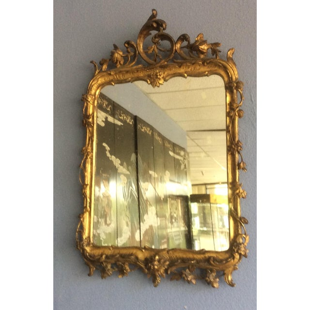 Late 18th Century Rococo Style Giltwood Mirror For Sale - Image 9 of 10