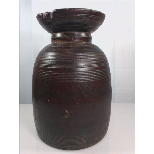 Primitive Hand-Carved Water Urn - Image 6 of 11