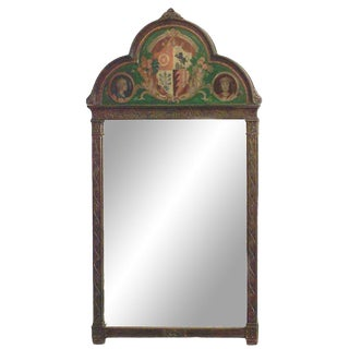 19th Century English Victorian Gothic Style Oak Wall Mirror For Sale