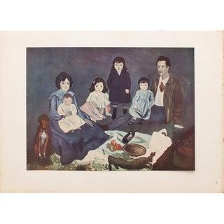 """1948 Vintage Original Picasso """"La Famille Soler"""" Lithograph Print For Sale"""