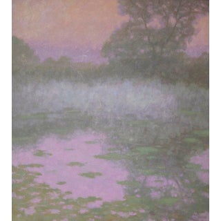 Rob Longley, Lily Pond, Fog Painting, 2016 For Sale