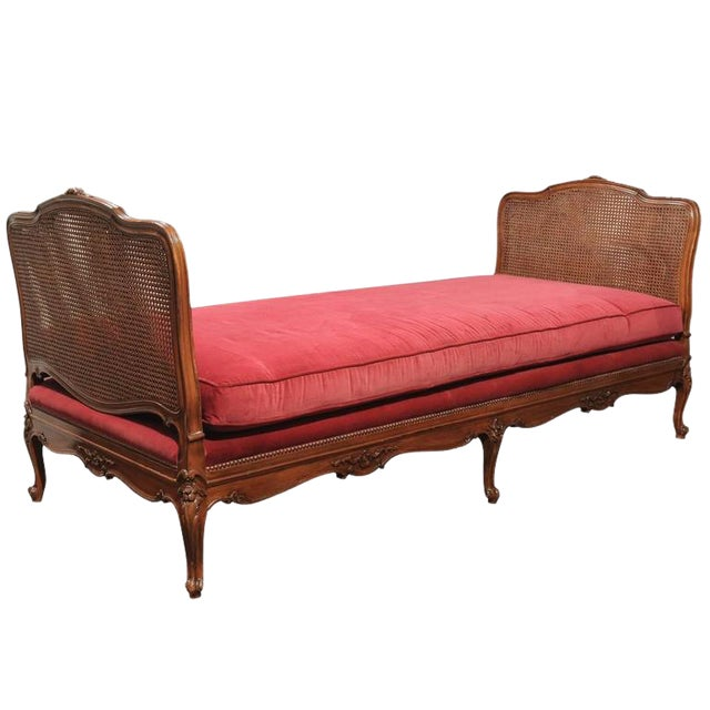 Louis XV Cane & Walnut Daybed For Sale
