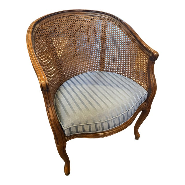 Hekman Sweet French Cane Chair With Pad For Sale
