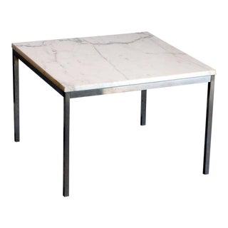 Original Marble and Steel Coffee/End Table by Florence Knoll for Knoll For Sale