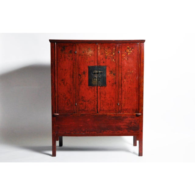 Chinese Wedding Cabinet With Square Lockplate For Sale - Image 13 of 13