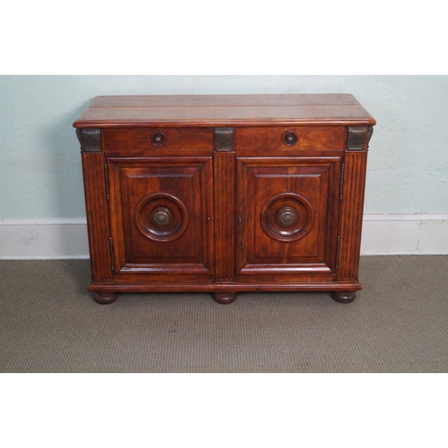 Quality Solid Mahogany Rustic Continental Server - Image 2 of 10