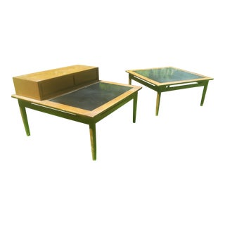 American of Martinsville Walnut End Side Tables - A Pair For Sale